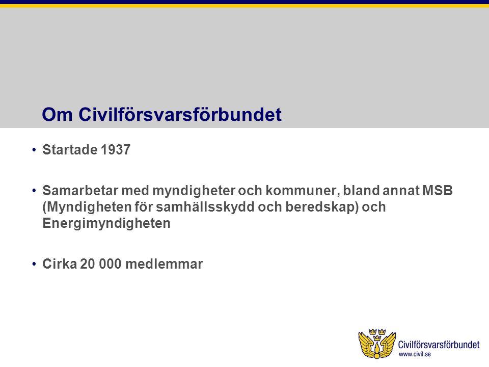 Om Civilförsvarsförbundet