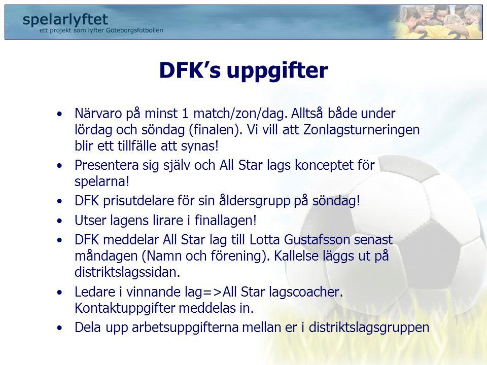 DFK's uppgifter