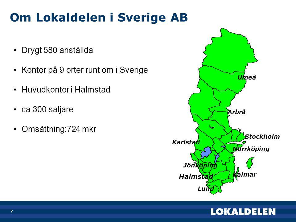 Om Lokaldelen i Sverige AB