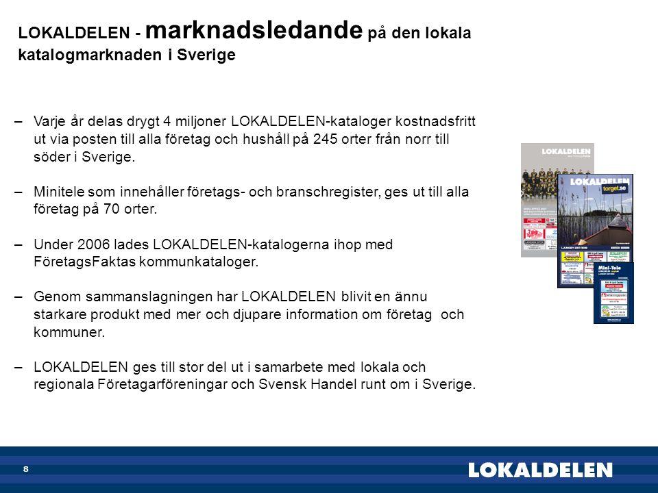 LOKALDELEN - marknadsledande på den lokala katalogmarknaden i Sverige