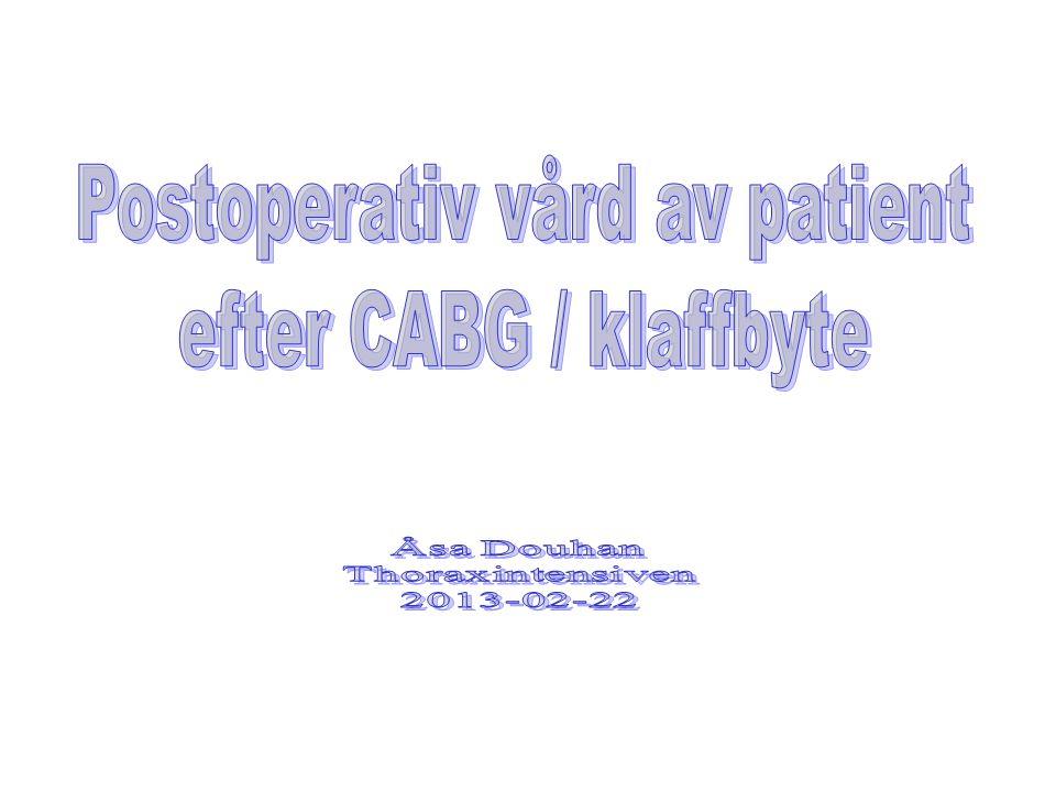 Postoperativ vård av patient