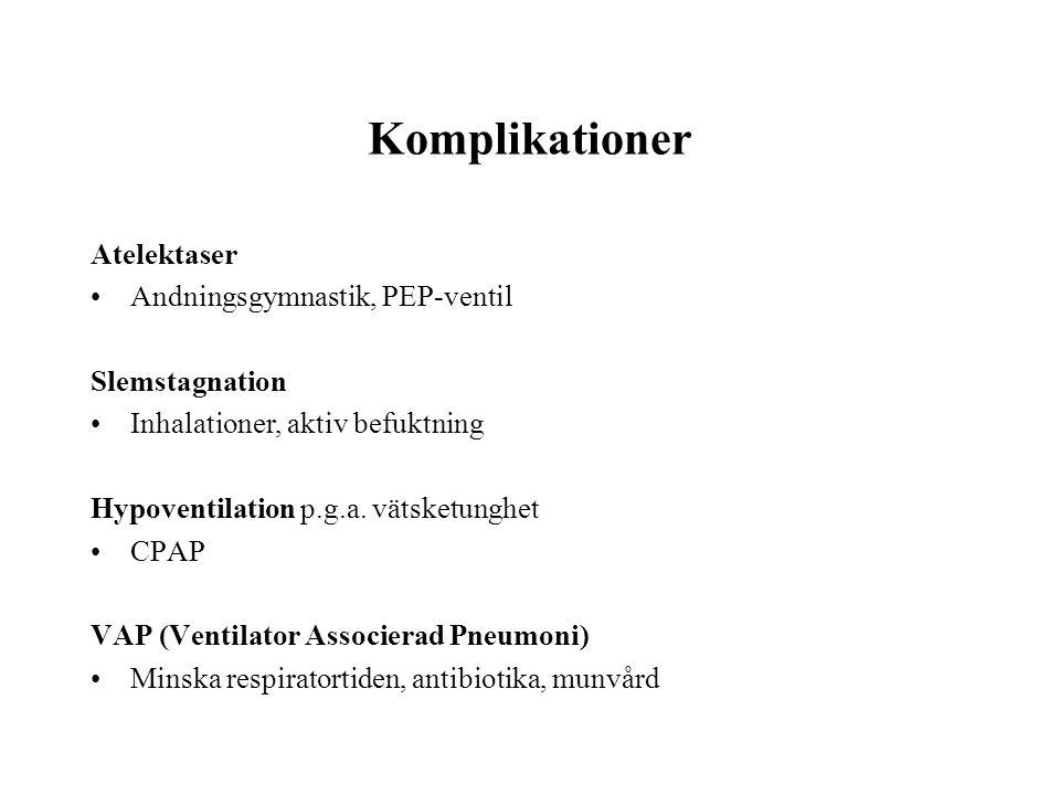 Komplikationer Atelektaser Andningsgymnastik, PEP-ventil