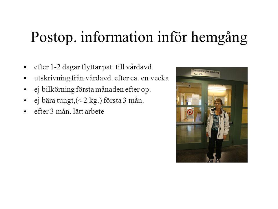 Postop. information inför hemgång