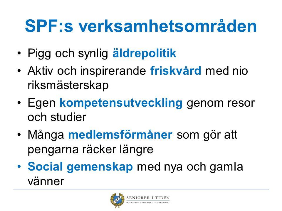 SPF:s verksamhetsområden