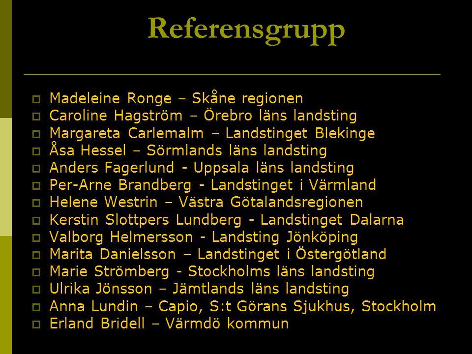 Referensgrupp Madeleine Ronge – Skåne regionen