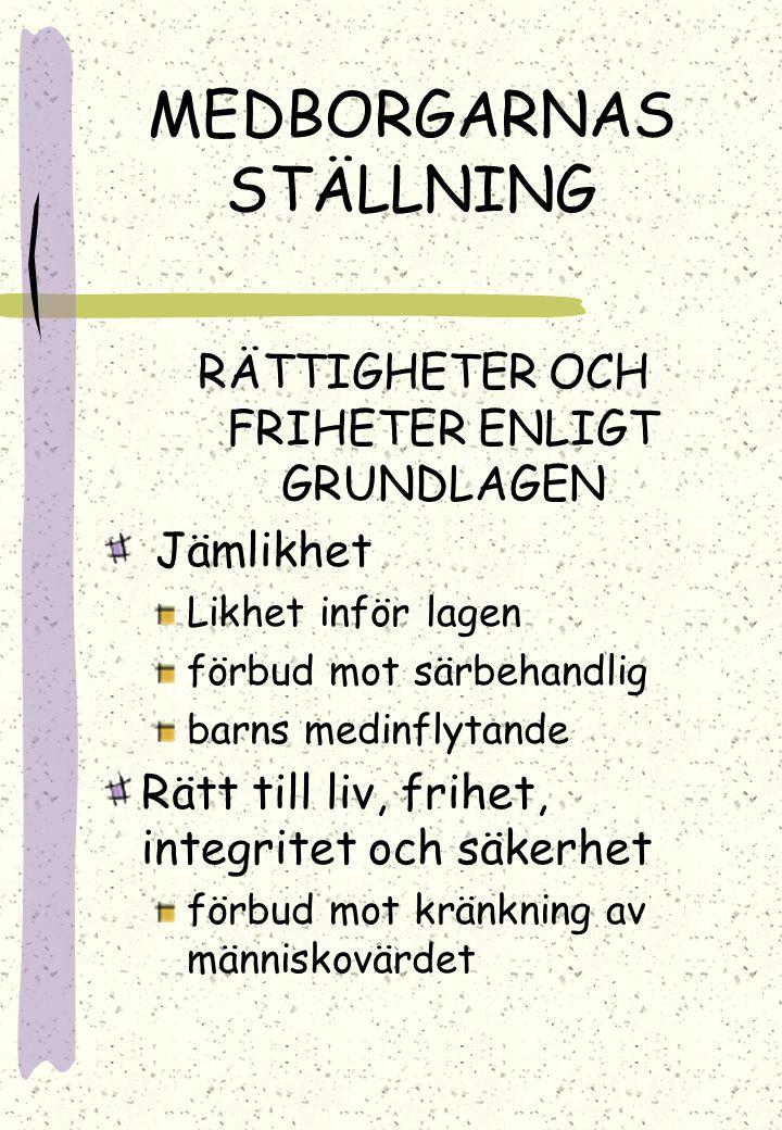 MEDBORGARNAS STÄLLNING