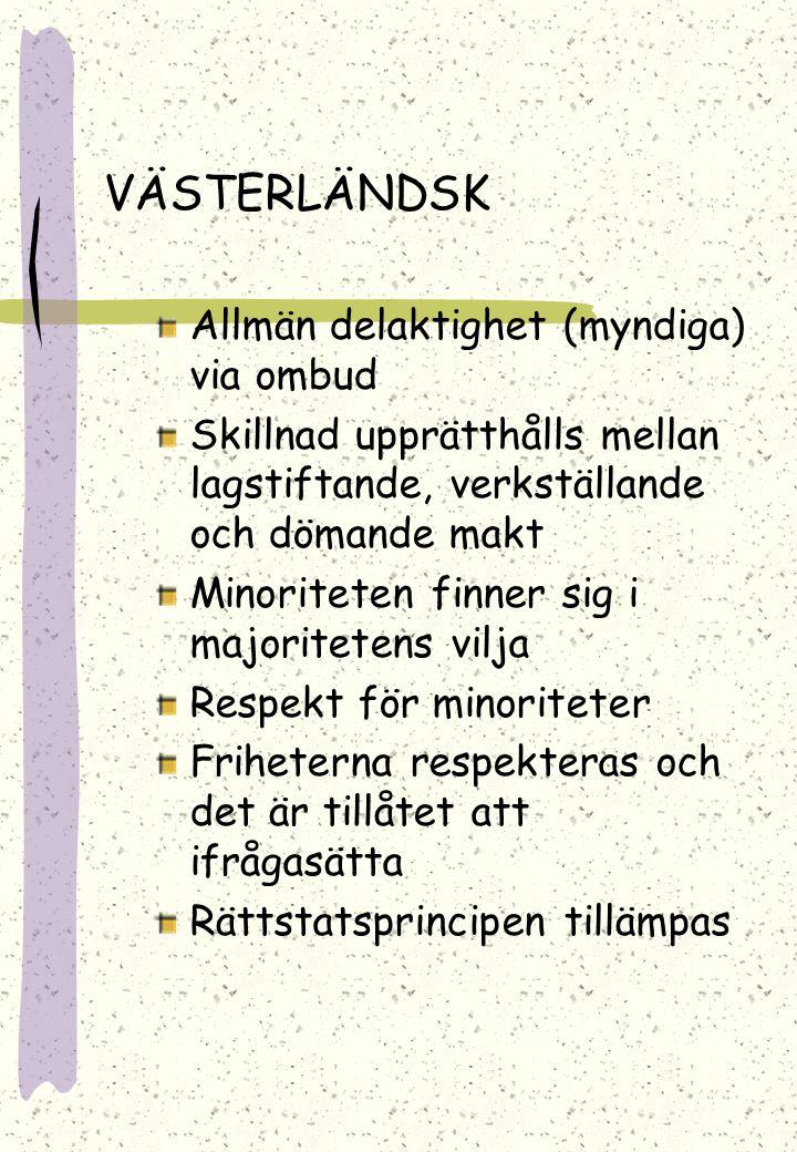 VÄSTERLÄNDSK Allmän delaktighet (myndiga) via ombud