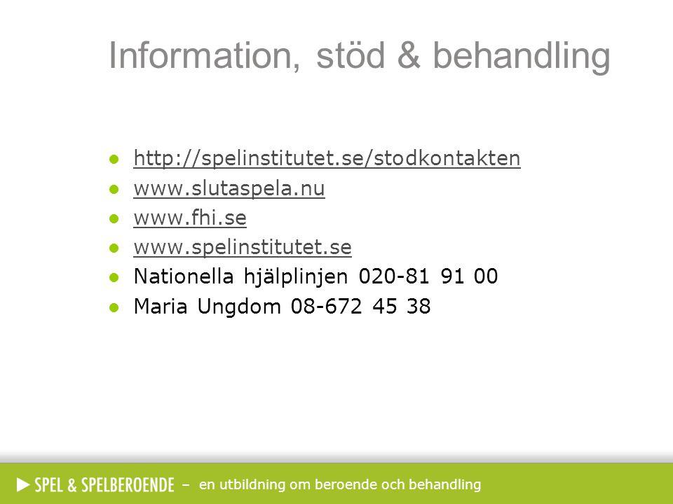 Information, stöd & behandling