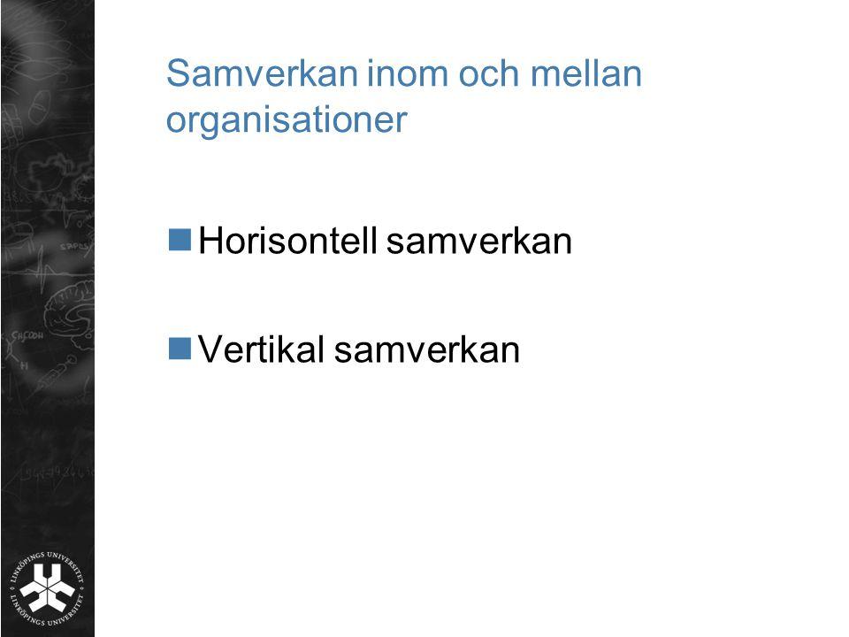 Samverkan inom och mellan organisationer