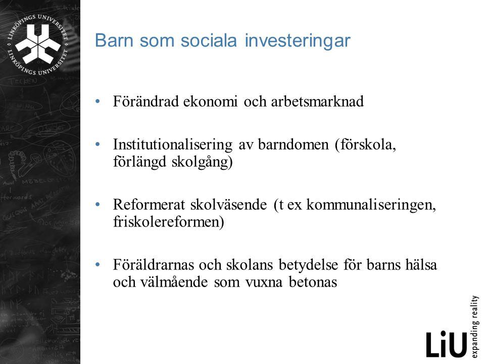Barn som sociala investeringar
