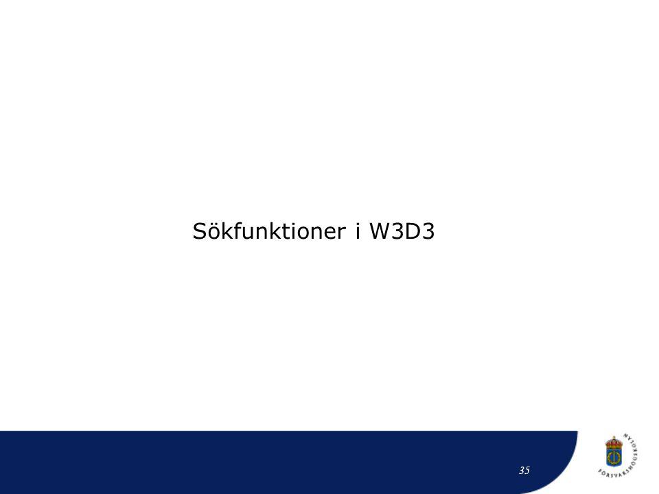 Sökfunktioner i W3D3 35