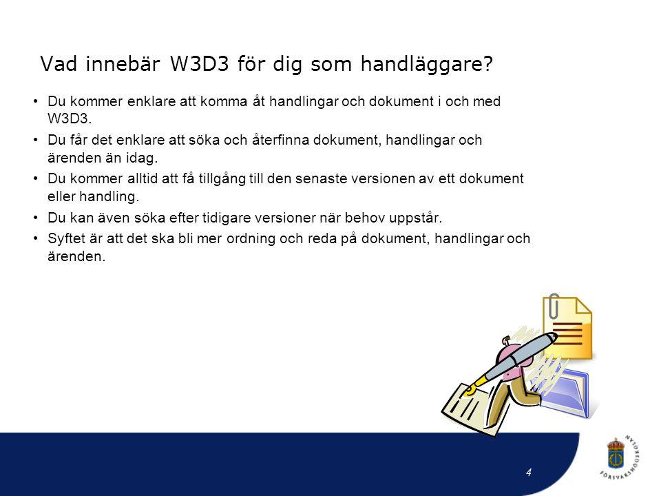 Vad innebär W3D3 för dig som handläggare