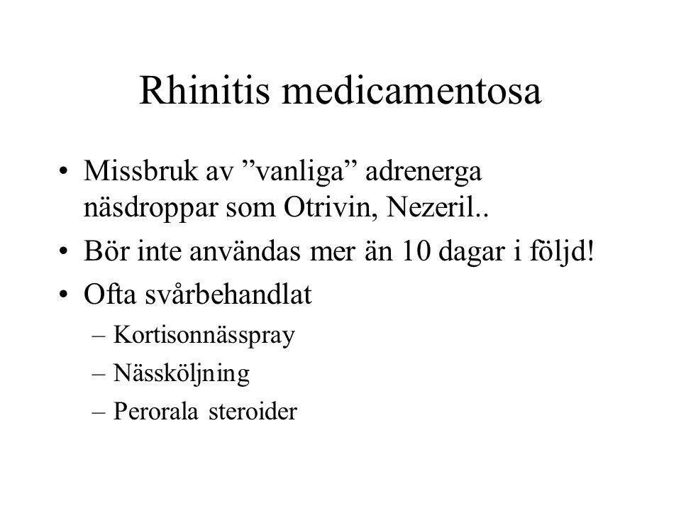Rhinitis medicamentosa