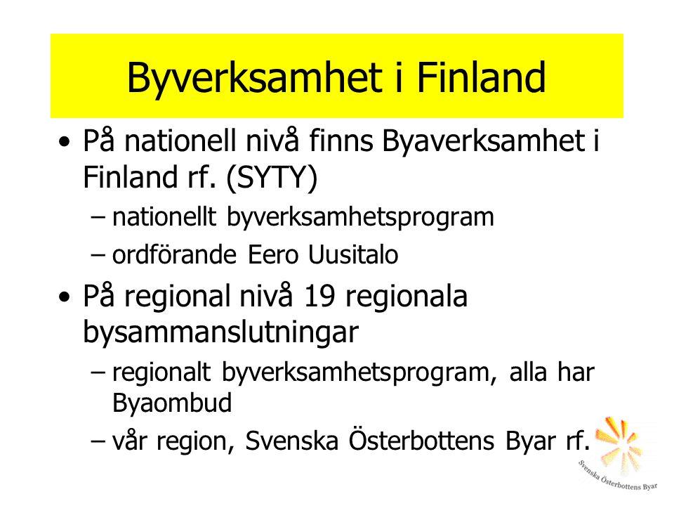 Byverksamhet i Finland