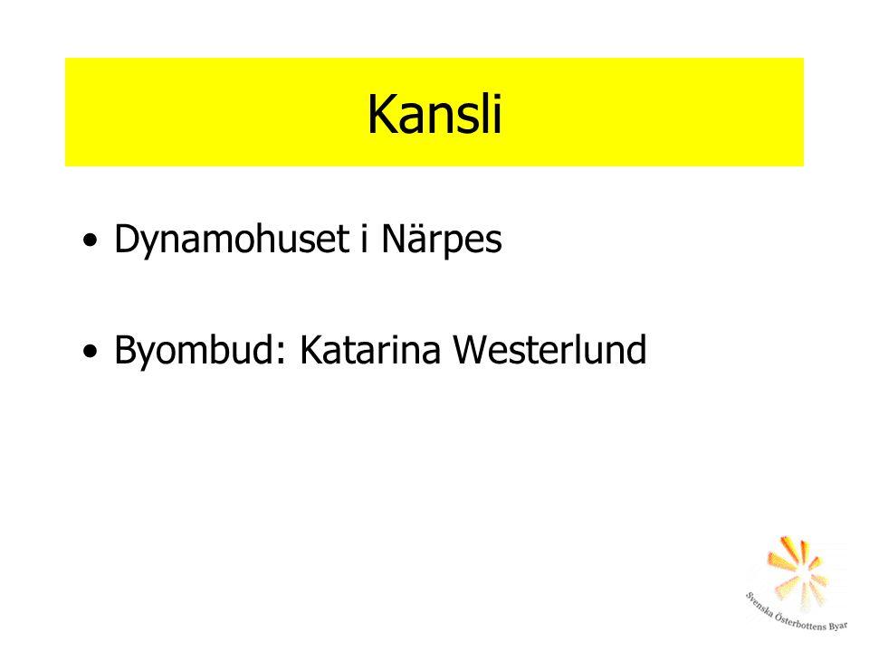 Kansli Dynamohuset i Närpes Byombud: Katarina Westerlund