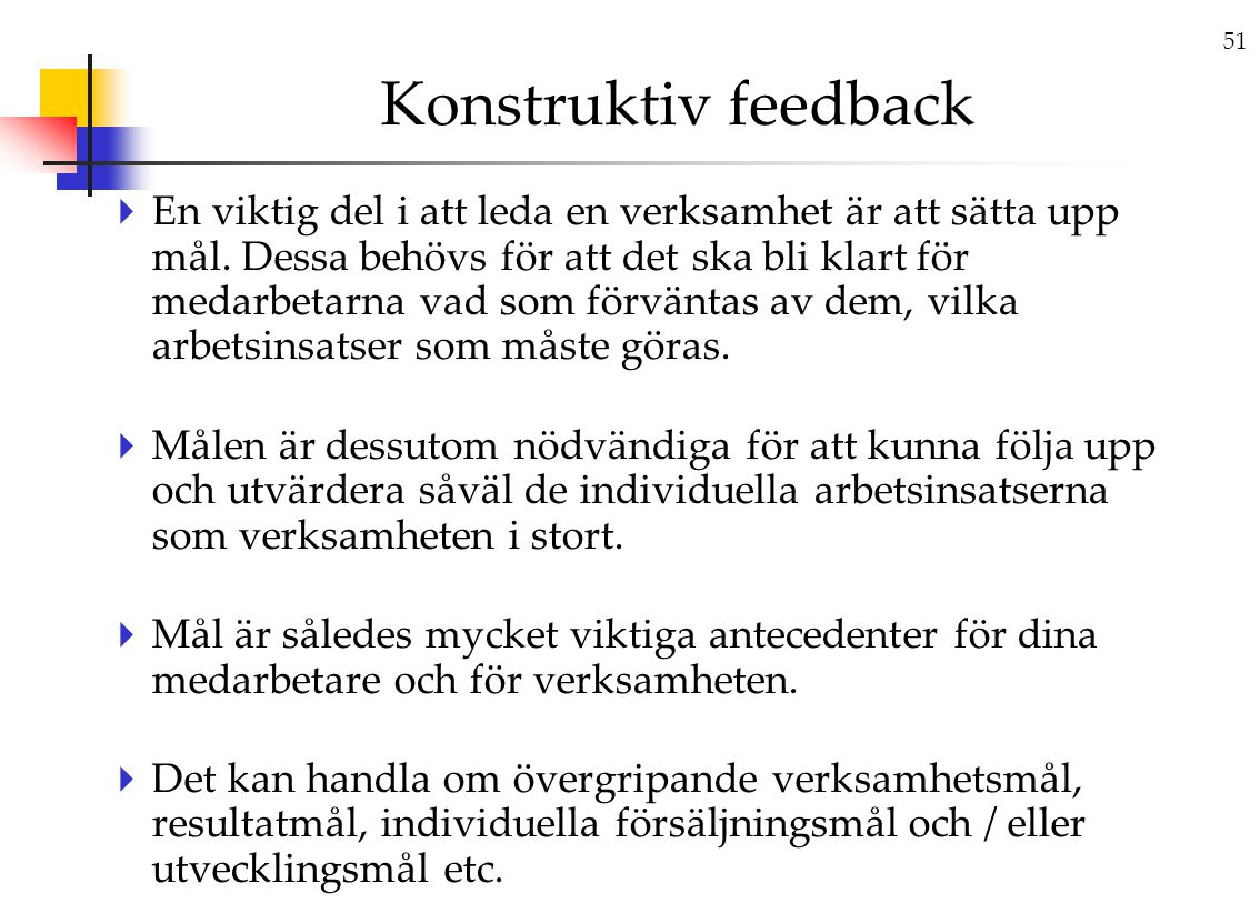 Konstruktiv feedback
