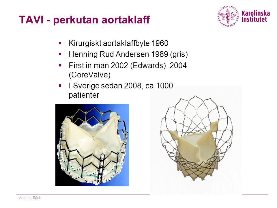 TAVI - perkutan aortaklaff