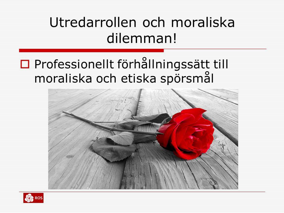 Utredarrollen och moraliska dilemman!
