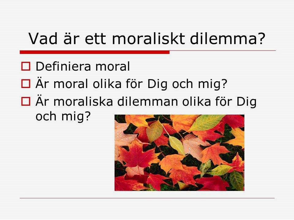 Vad är ett moraliskt dilemma