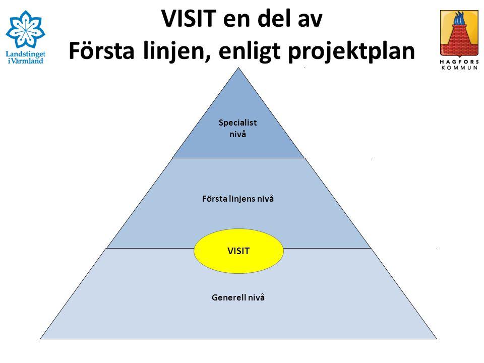 VISIT en del av Första linjen, enligt projektplan