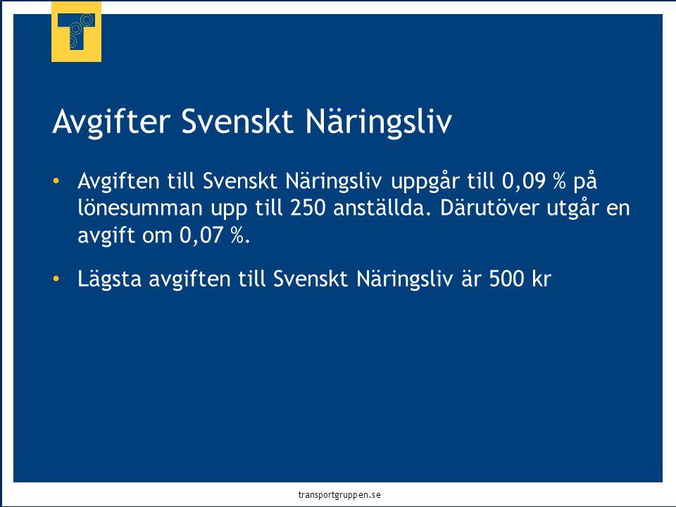 Avgifter Svenskt Näringsliv