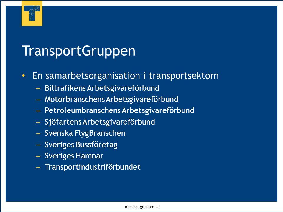 TransportGruppen En samarbetsorganisation i transportsektorn