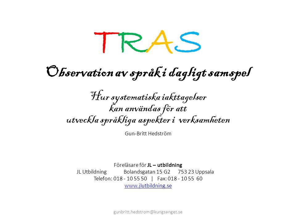 Observation av språk i dagligt samspel