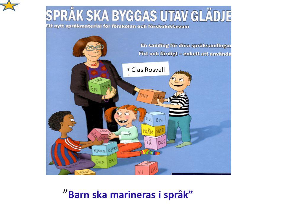 Barn ska marineras i språk
