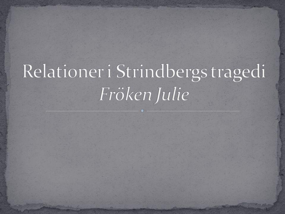 Relationer i Strindbergs tragedi Fröken Julie