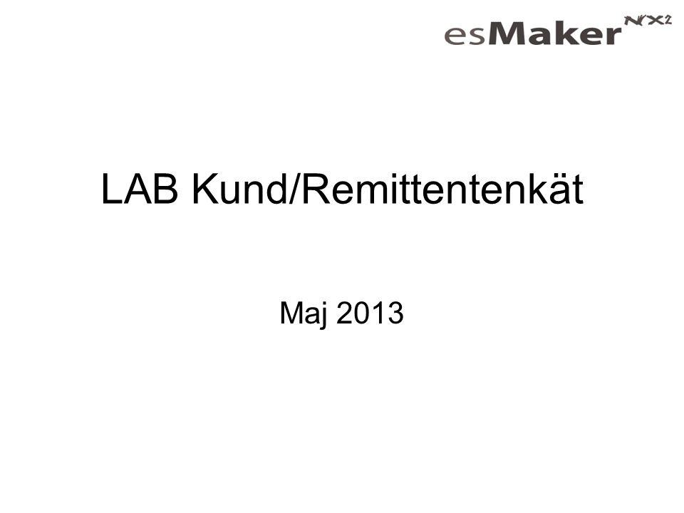 LAB Kund/Remittentenkät
