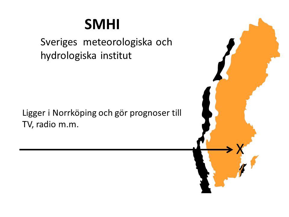 SMHI X Sveriges meteorologiska och hydrologiska institut