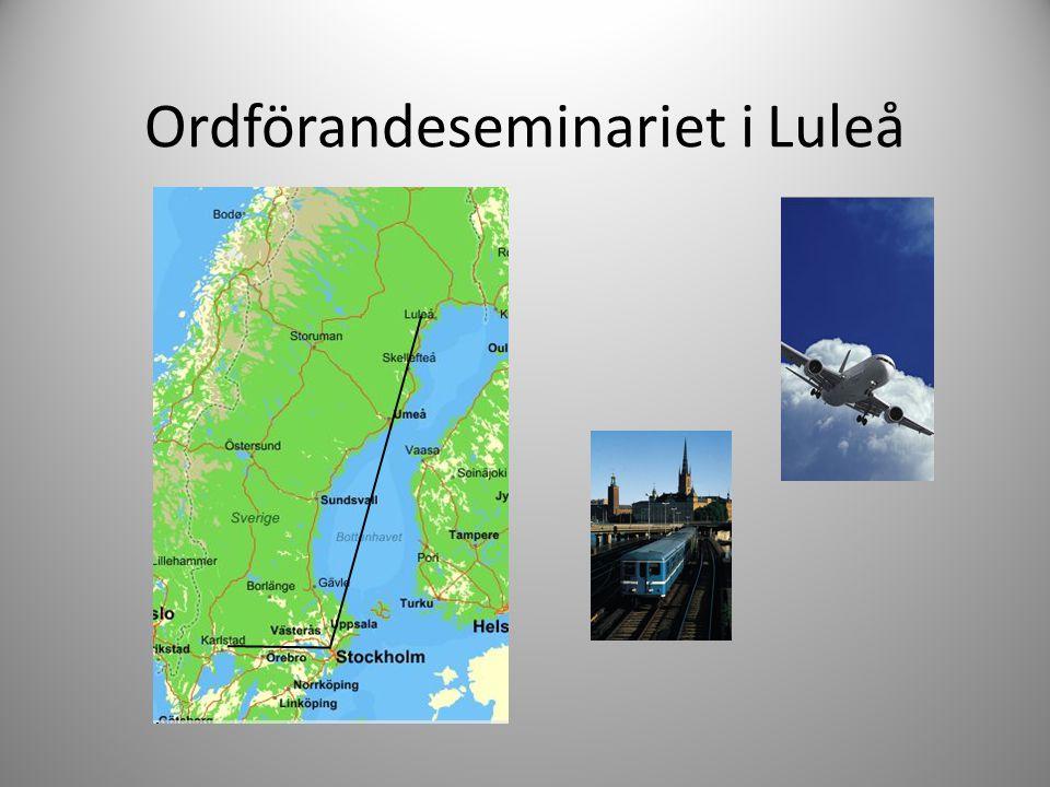 Ordförandeseminariet i Luleå