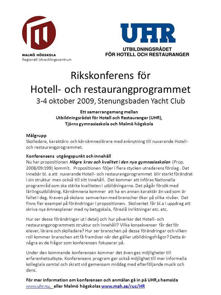 Hotell- och restaurangprogrammet