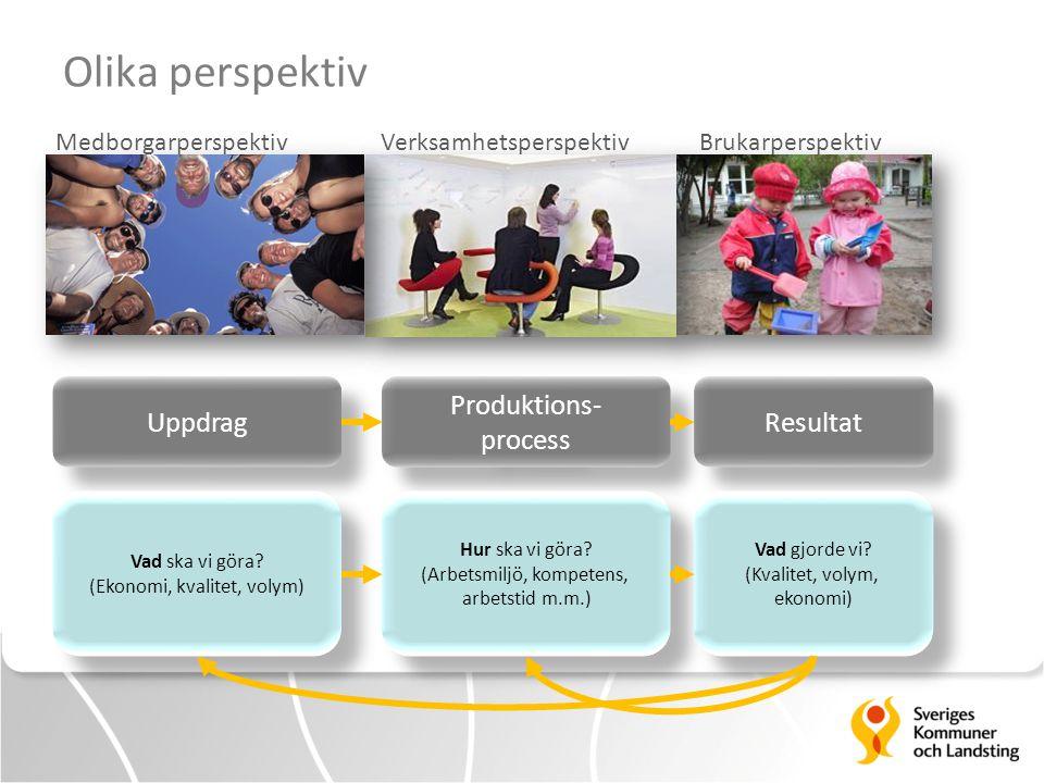 Olika perspektiv Uppdrag Produktions- process Resultat