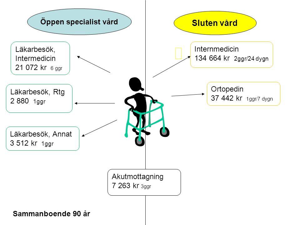 Sluten vård Öppen specialist vård Läkarbesök, Intermedicin