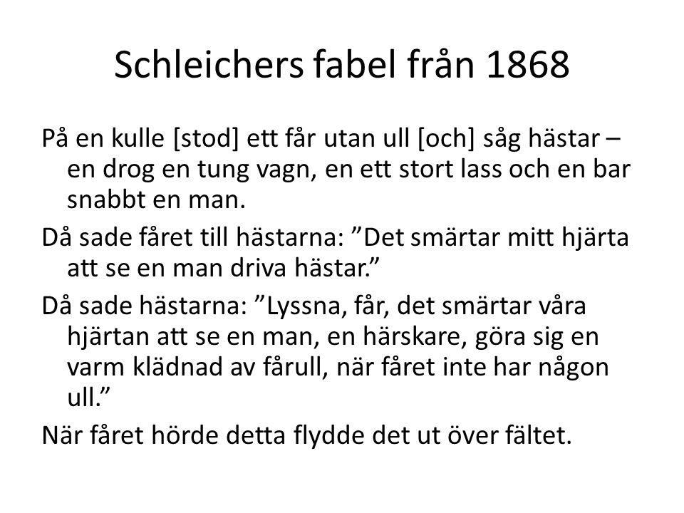 Schleichers fabel från 1868
