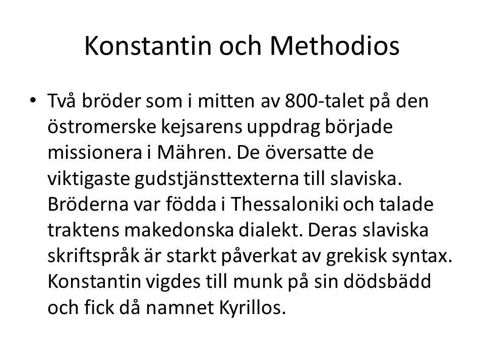 Konstantin och Methodios