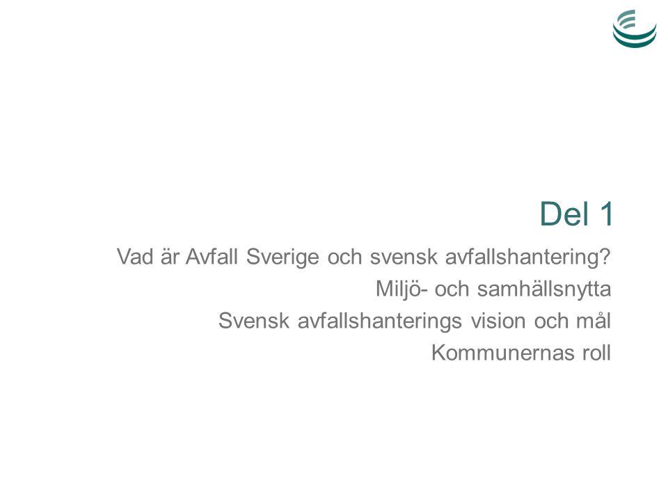 Del 1 Vad är Avfall Sverige och svensk avfallshantering