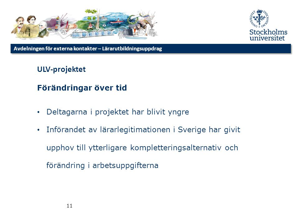 ULV-projektet Förändringar över tid