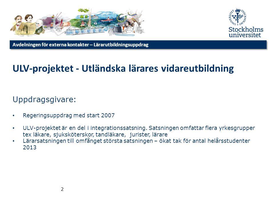 ULV-projektet - Utländska lärares vidareutbildning