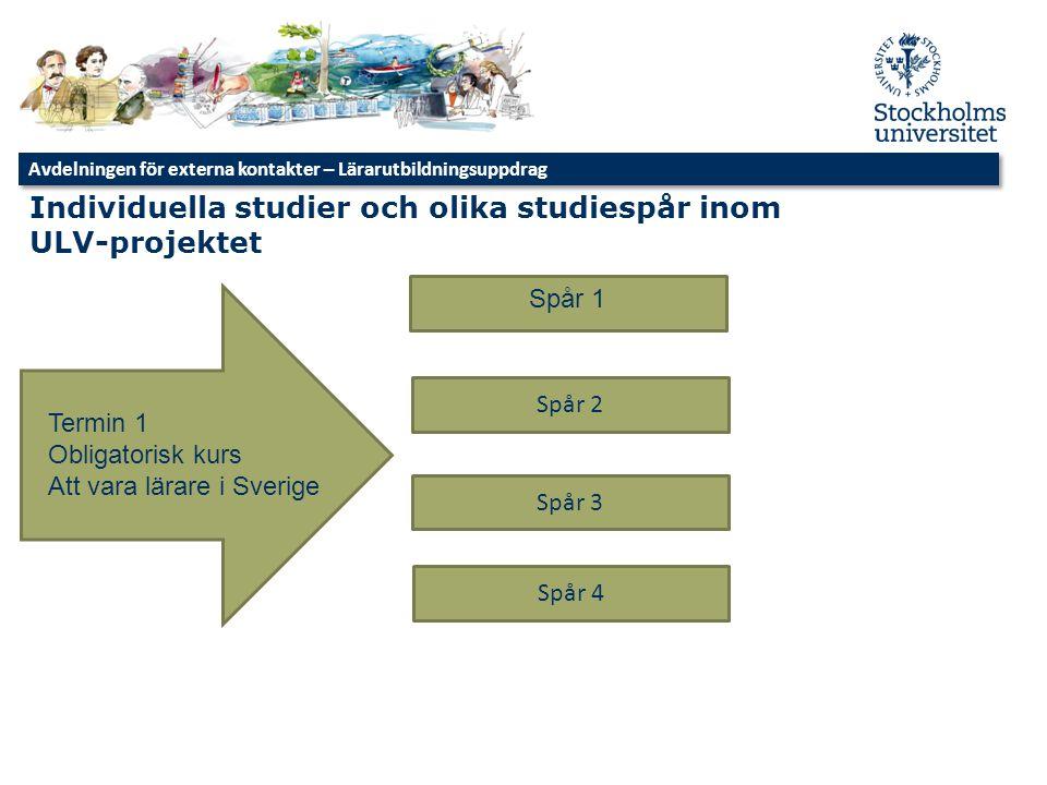 Individuella studier och olika studiespår inom ULV-projektet