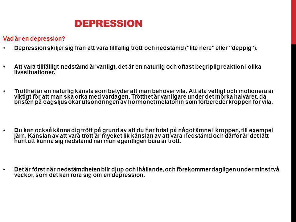Depression Vad är en depression