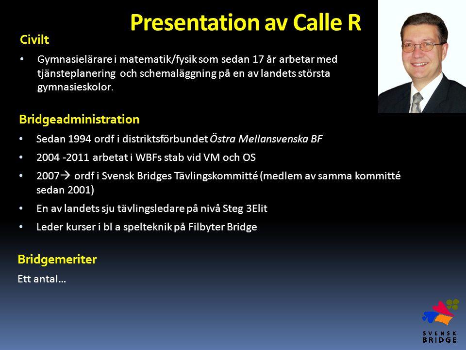 Presentation av Calle R