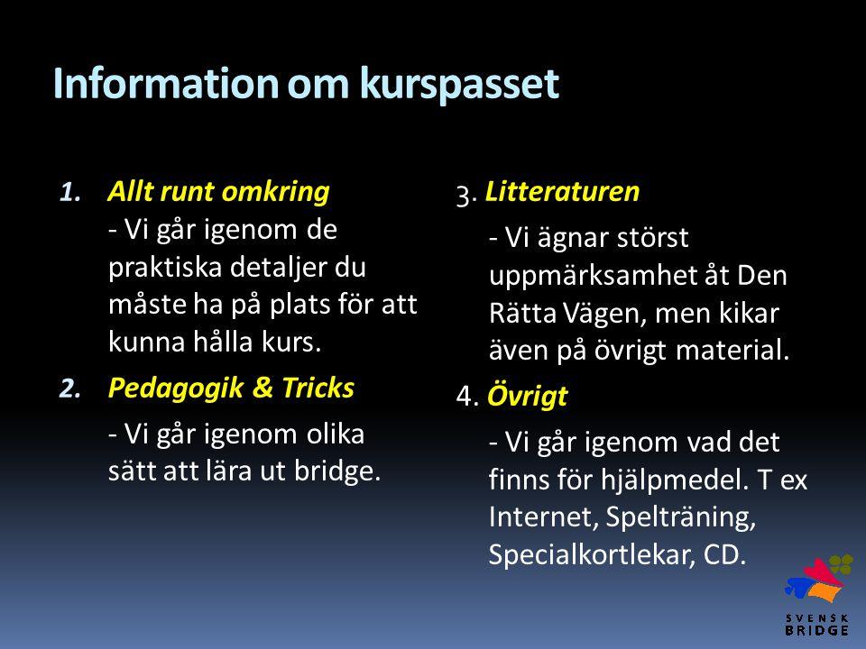 Information om kurspasset