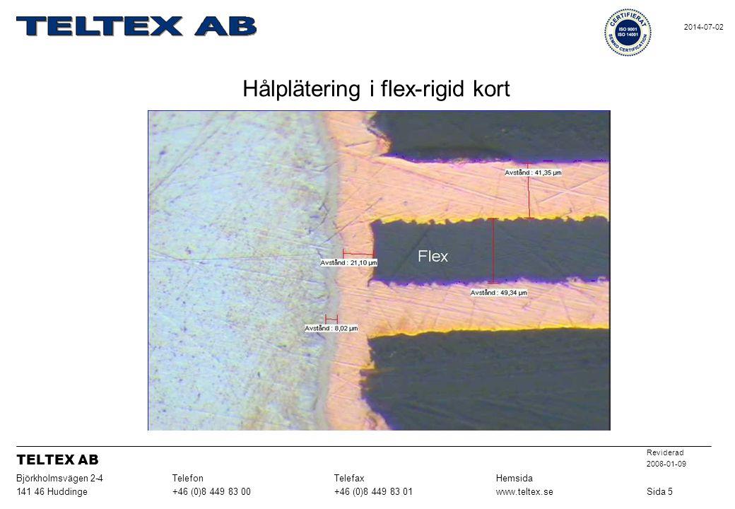 Hålplätering i flex-rigid kort