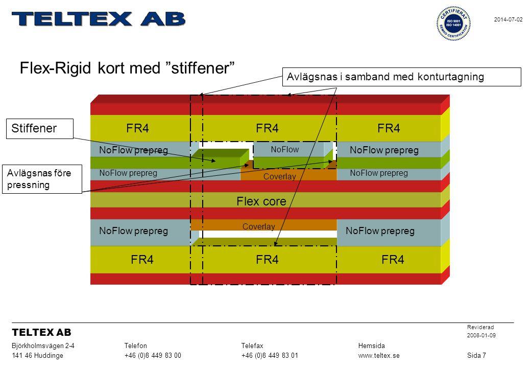 Flex-Rigid kort med stiffener