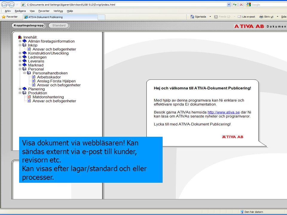Visa dokument via webbläsaren