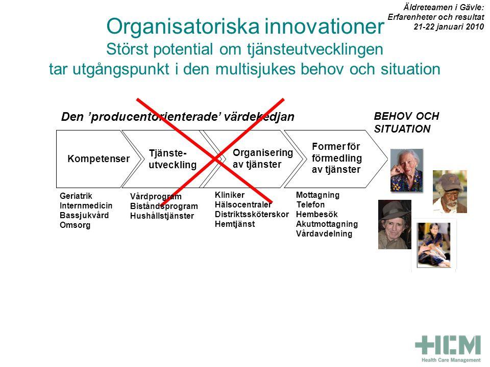 Äldreteamen i Gävle: Erfarenheter och resultat. 21-22 januari 2010.