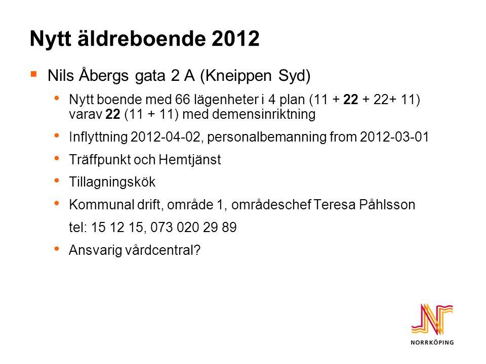 Nytt äldreboende 2012 Nils Åbergs gata 2 A (Kneippen Syd)