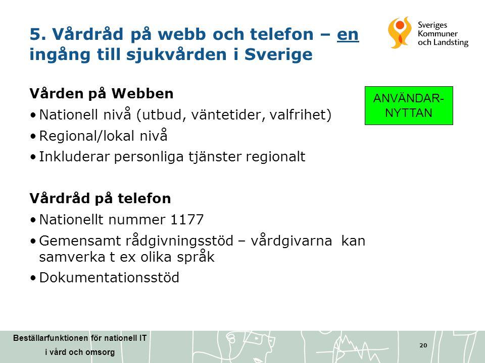 5. Vårdråd på webb och telefon – en ingång till sjukvården i Sverige